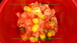 помидоры порезанные