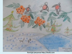 Бармина Даша, 7 лет. «Снегири»