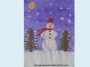 Кащеев Егор, 7 лет. «Зимняя ночь»