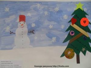 Хисамова Сабина, 7 лет. «Сказочный Новый год»