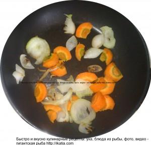обжаренная морковь и лук