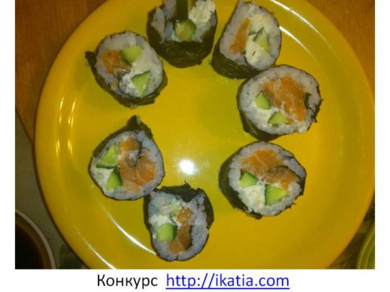 суши верхний слой морская капуста